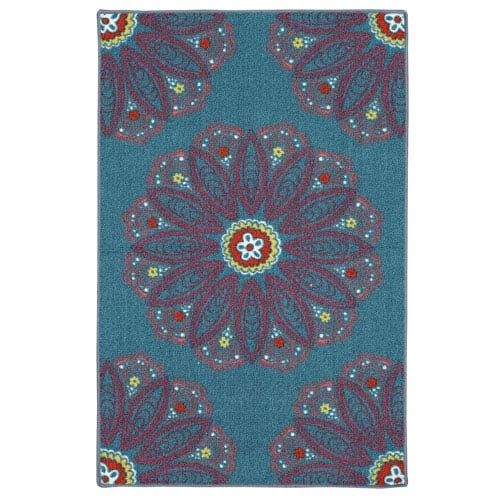 Mohawk Home Lacee Teal Rectangular: 2 Ft. 6-Inch x 3 Ft. 10-Inch Rug