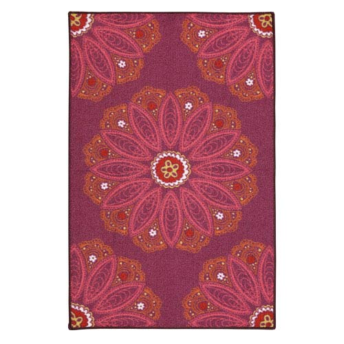 Mohawk Home Lacee Purple Rectangular: 2 Ft. 6-Inch x 3 Ft. 10-Inch Rug