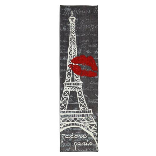 Paris Love Eiffel Tower Urban Runner: 2 Ft. x 8 Ft.