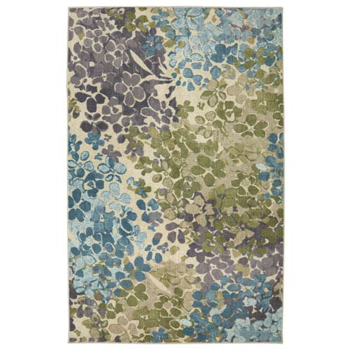 Radiance Aqua Rectangular: 7 Ft. 6-Inch x 10 Ft. Rug