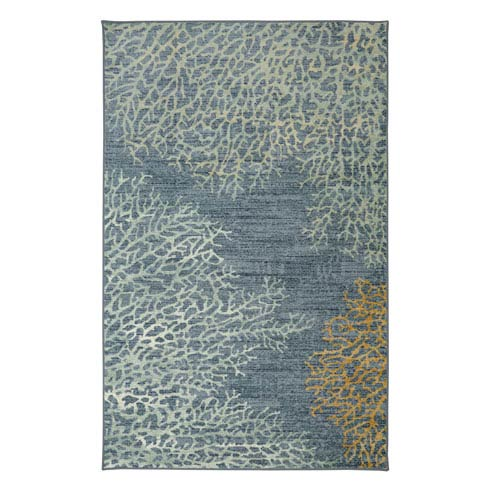 Coral Reef Multicolor Rectangular: 7 Ft. 6-Inch x 10 Ft. Rug