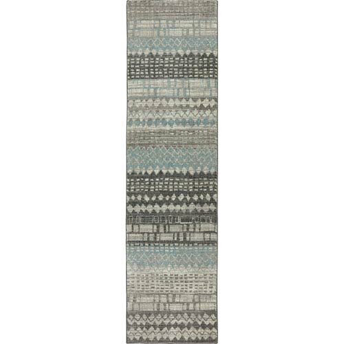 Euphoria Eddleston Ash Gray Runner: 2 Ft. 4 In. x 7 Ft. 10 In. Rug