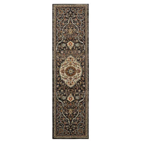 Spice Market Petra Charcoal Runner: 2 Ft. 4 In. x 7 Ft. 10 In. Rug