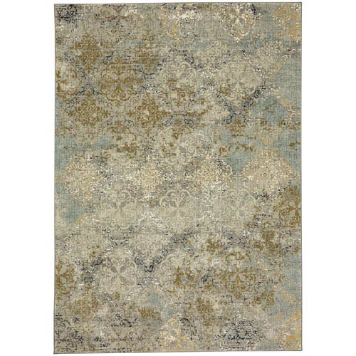 Touchstone Moy Willow Gray Rectangular: 9 Ft. 6-Inch x 12 Ft. 11-Inch Area Rug