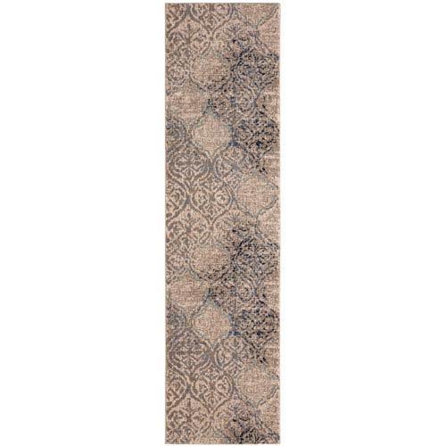 Karastan Cosmopolitan Zendaya Indigo by Virginia Langley Runner: 2 Ft. 4 In. x 7 Ft. 10 In. Rug