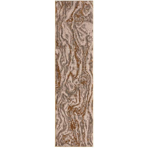 Enigma Alluvium Brushed Gold Runner: 2 Ft. 4 In. x 7 Ft. 10 In. Rug
