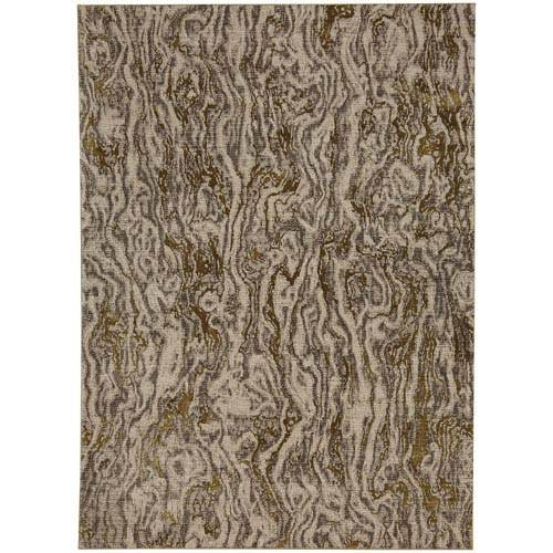 Enigma Alluvium Brushed Gold Rectangular: 5 Ft. 3-Inch x 7 Ft. 10-Inch Area Rug