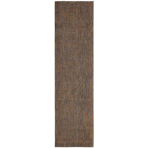 Enigma Spectral Brushed Gold Runner: 2 Ft. 4 In. x 7 Ft. 10 In. Rug