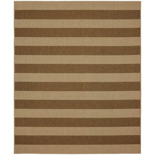Portico Riviera Stripe Natural Rectangular: 5 Ft. 3 In. x 7 Ft. 10 In. Indoor/Outdoor Rug
