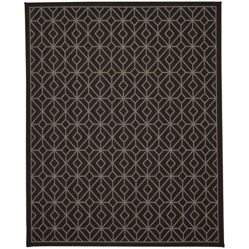 Portico Tremiti Onyx Rectangular: 5 Ft. 3 In. x 7 Ft. 10 In. Indoor/Outdoor Rug