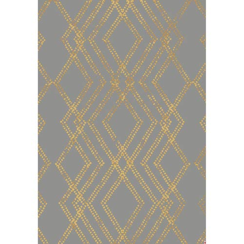 Cosmopolitan French Affair Smokey Gray by Patina Vie Rectangular: 5 Ft. 3 In. x 7 Ft. 10 In. Rug