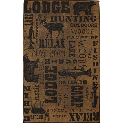 Escape Rustic Escape Taupe Rectangular: 5 Ft x 8 Ft Rug