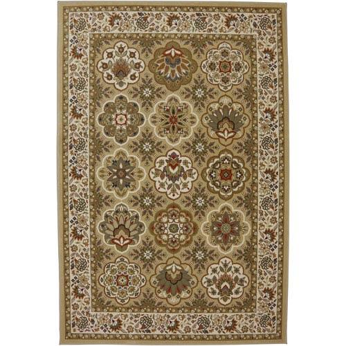 American Rug Craftsmen Symphony Copperhill Pale Wheat Rectangular: 3 Ft 6 In x 5 Ft 6 In Rug