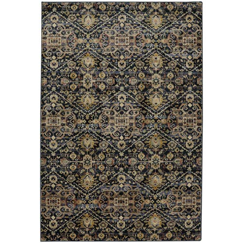 Savannah Ellis Blue Slate Rectangular: 5 Ft. 3-Inch x 7 Ft. 10-Inch Rug