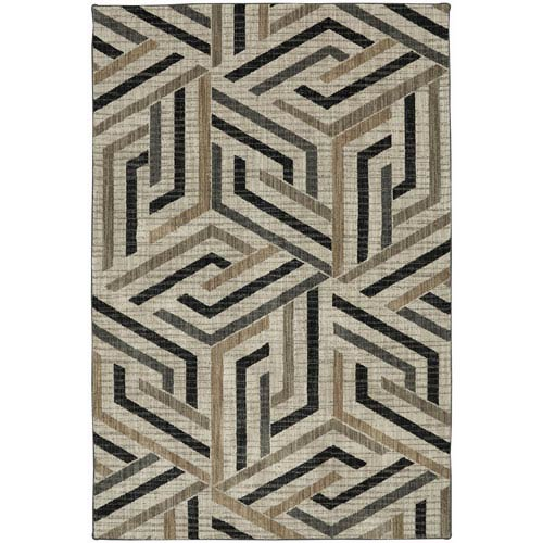 Metropolitan Aster Onyx Rectangular: 5 Ft. 3-Inch x 7 Ft. 10-Inch Rug