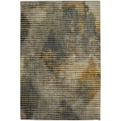 Muse Wireframe Mustard Rectangular: 5 Ft. 3-Inch x 7 Ft. 10-Inch Rug