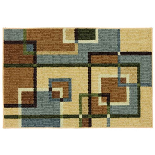 Summit Lane Contemporary Geometric Blue Grey Rectangular: 2 Ft. 6 In. x 3 Ft. 10 In.