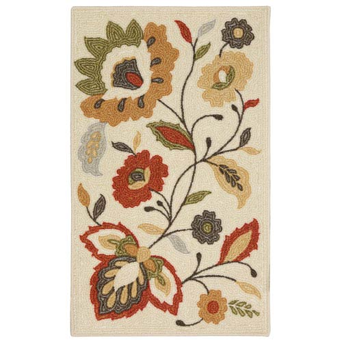 Transitional Floral Multicolor Rectangular: 8 Ft. x 10 Ft. Rug