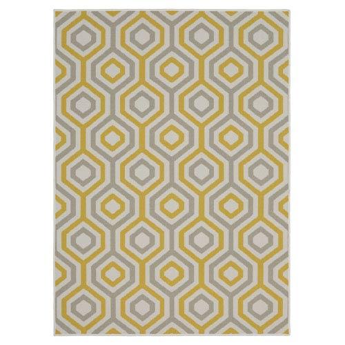 Summit Lane Contemporary Geometric Cream Rectangular: 5 Ft. x 7 Ft. Rug
