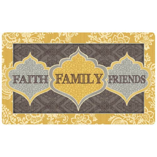 Casual Door Mat Multicolor Rectangular: 1 Ft. 6 In. x 2 Ft. 6 In.