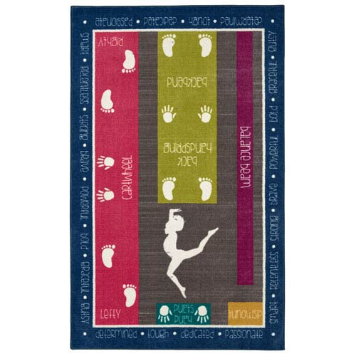 Casual Multicolor Rectangular: 5 Ft. x 8 Ft Rug