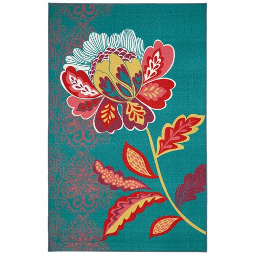 Summit Lane Contemporary Multicolor Rectangular: 5 Ft. x 8 Ft. Rug