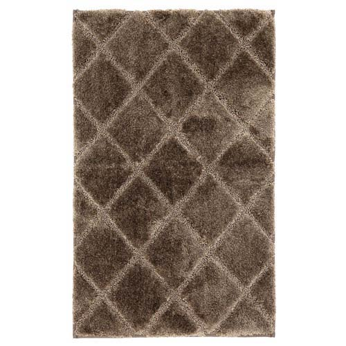 Casual Brown Rectangular: 1 Ft. 5 In. x 2 Ft. Rug