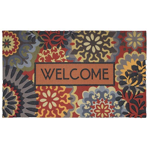 Contemporary Multicolor Rectangular: 1 Ft. 6 In. x 2 Ft. 6 In. Rug