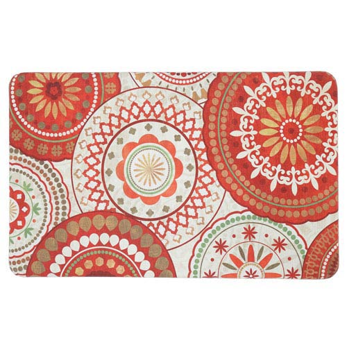 Contemporary Red Rectangular: 1 Ft. 6 In. x 2 Ft. 6 In. Rug