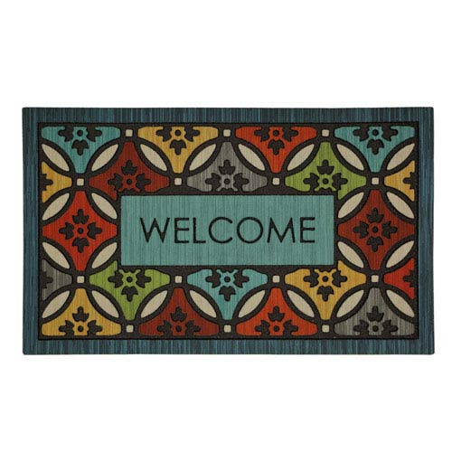 Casual Multicolor Rectangular: 1 Ft. 6 In. x 2 Ft. 6 In. Rug