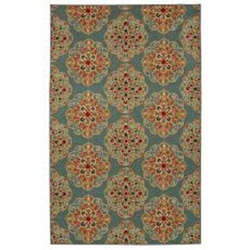 Contemporary Multicolor Rectangular: 5 Ft. x 7 Ft. Rug