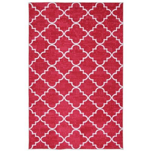 Transitional Hot Pink Rectangular: 5 Ft. x 8 Ft. Indoor Rug