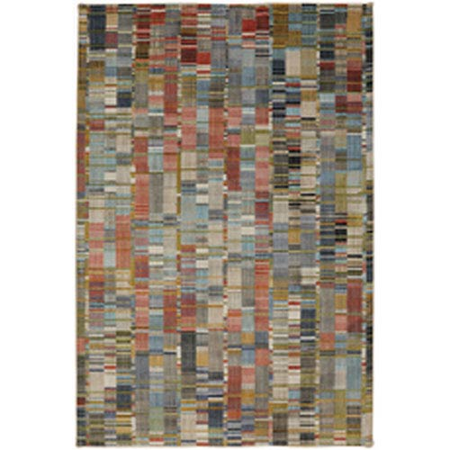 Contemporary Geometric Multicolor Rectangular: 5 Ft. 3 In. x 7 Ft. 10 In.