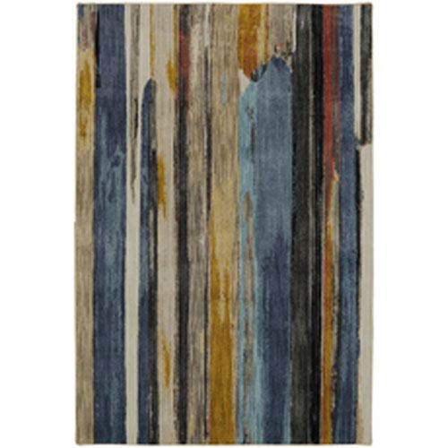 Contemporary Striped Multicolor Rectangular: 5 Ft. 3 In. x 7 Ft. 10 In.