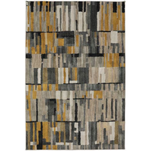 Contemporary Geometric Gunmetal Rectangular: 8 Ft. x 11 Ft.