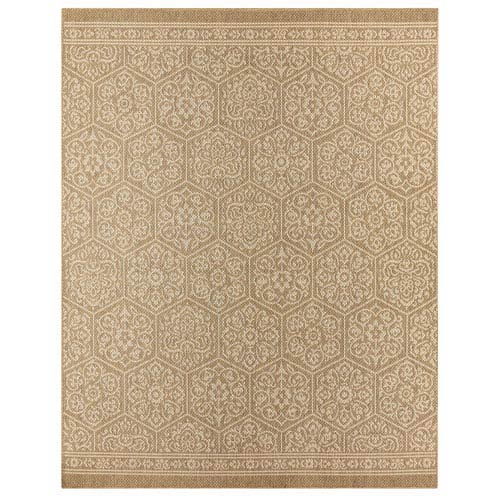 Transitional Ornamental Natural Rectangular: 5 Ft. 3 In. x 7 Ft. 6 In. Rug