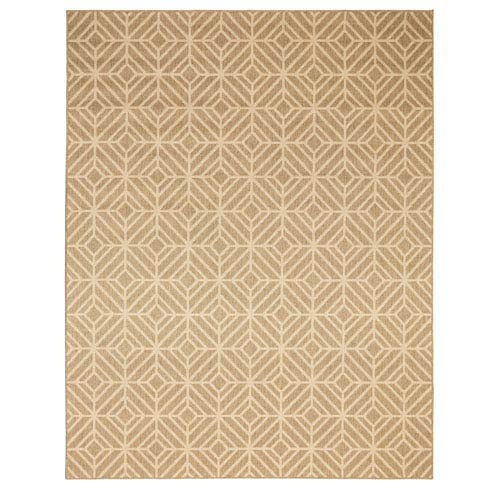 Summit Lane Contemporary Geometric Natural Rectangular: 5 Ft. 3 In. x 7 Ft. 6 In. Rug