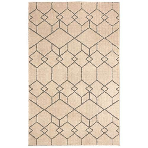 Summit Lane Transitional Geometric Gray Rectangular: 5 Ft. x 8 Ft. Rug