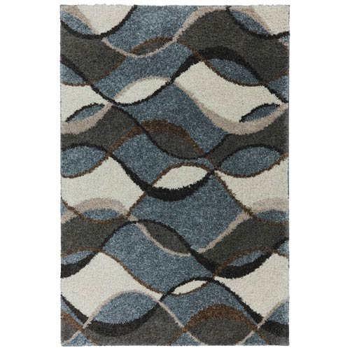 Contemporary Abstract Cocoa Rectangular: 5 Ft. x 7 Ft. Rug