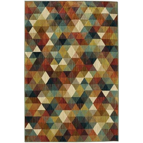 Summit Lane Contemporary Geometric Multicolor Rectangular: 5 Ft. 3 In. x 7 Ft. 10 In. Rug