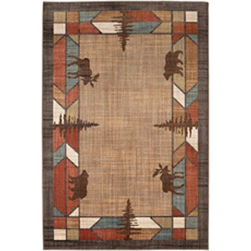 Transitional Southwest/ Lodge Multicolor Rectangular: 9 Ft. 6 In. x 12 Ft. 11 In.