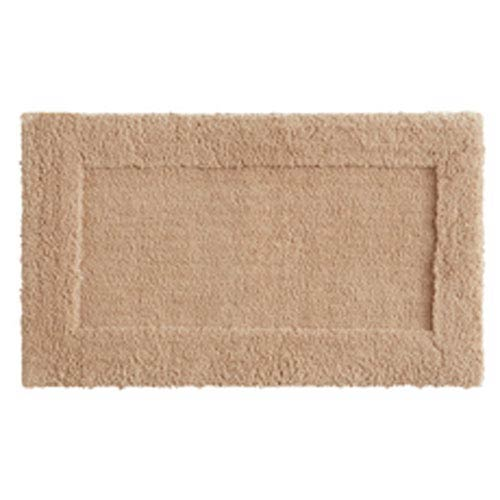 Casual Solid Barley Rectangular: 1 Ft. 8 In. x 2 Ft. 10 In.  Bath Mat