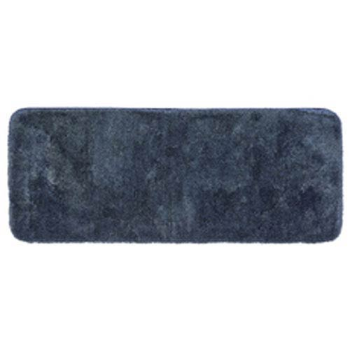 Casual Solid New Blue Rectangular: 2 Ft. x 5 Ft. Bath Mat
