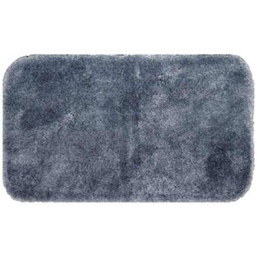 Casual Solid Slate Rectangular: 2 Ft. x 5 Ft. Bath Mat