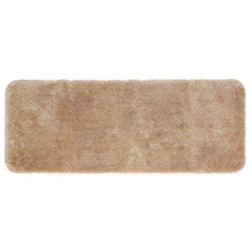 Casual Solid Sand Rectangular: 2 Ft. x 5 Ft. Bath Mat