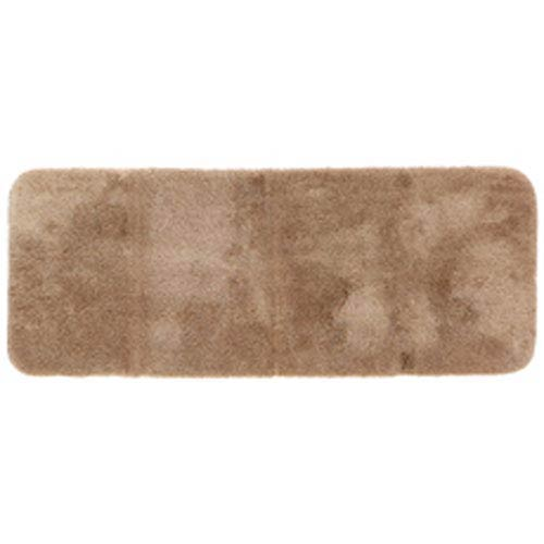 Casual Solid Latte Rectangular: 2 Ft. x 5 Ft. Bath Mat