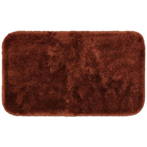 Casual Solid Brick Rectangular: 2 Ft. x 5 Ft. Bath Mat