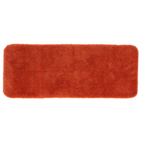 Casual Solid Paprika Rectangular: 2 Ft. x 5 Ft. Bath Mat