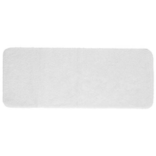 Casual Solid White Rectangular: 2 Ft. x 5 Ft. Bath Mat