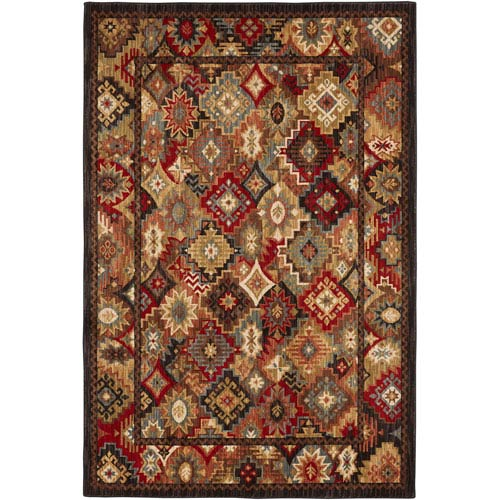 Heritage Endless Wild Multicolor Rectangular: 5 Ft. 3 In. x 7 Ft. 10 In. Rug